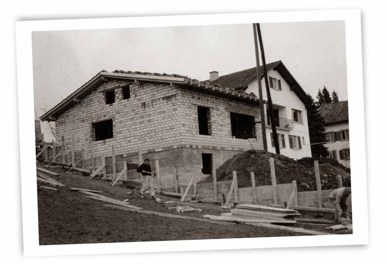Vergrösserung an der Werkstatt ca. um 1980